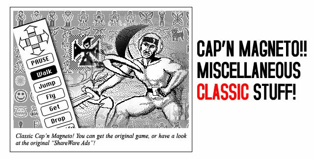Images from the original Cap'n Magneto